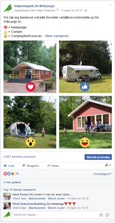 7 Facebook tips die iedere ondernemer moet weten - Vakantiepark De Wiltzangh