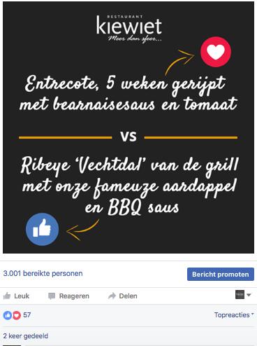 Gerecht vs Gerecht: 10 creatieve Facebook-berichten voor horecaondernemers
